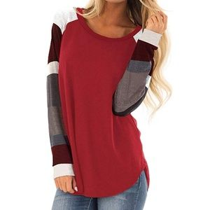 NEW Casual Pullover with Color Patchwork